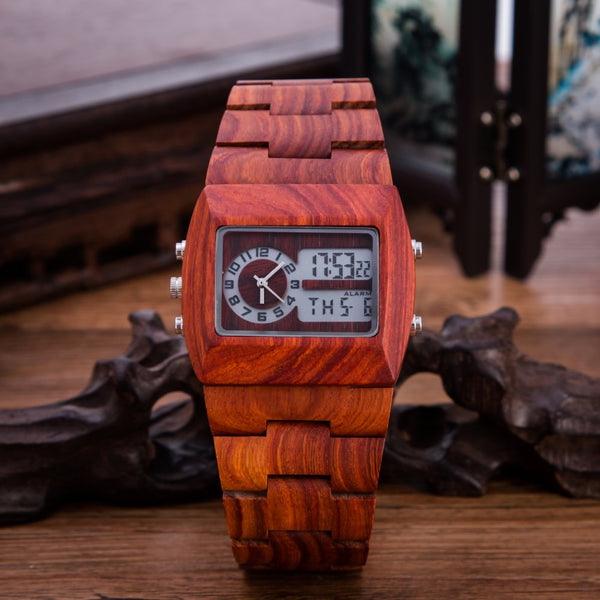 Wooden Digital Watches // The Bronson // Red Sandalwood