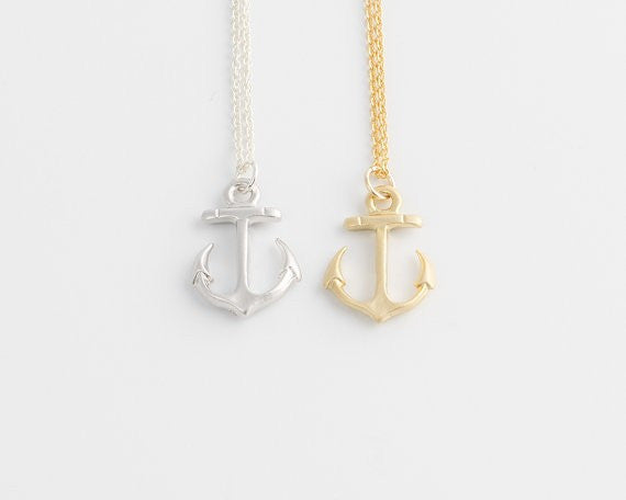 FREE! TAKE ME TO THE OCEAN ANCHOR CLAVICLE PENDANT - The Gorillas Den