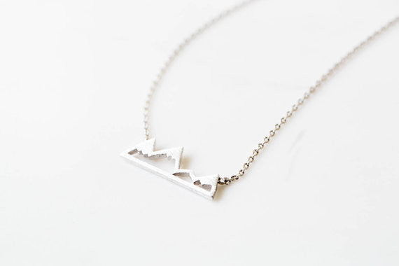 Dainty Snowy Mountain Top Necklaces-Gold/Silver/Black - The Gorillas Den