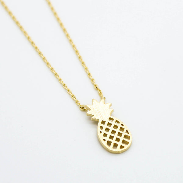 Dainty Pineapple Necklace Pendant - Silver and Gold - The Gorillas Den
