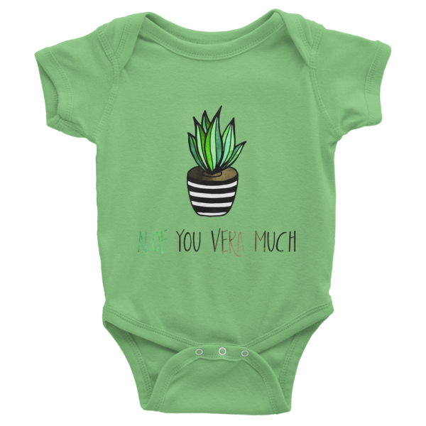 Aloe you vera much Baby Onesies - The Gorillas Den