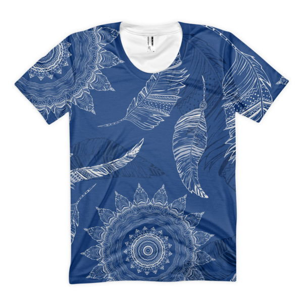 The Blue Leaf Women's sublimation t-shirt - The Gorillas Den
