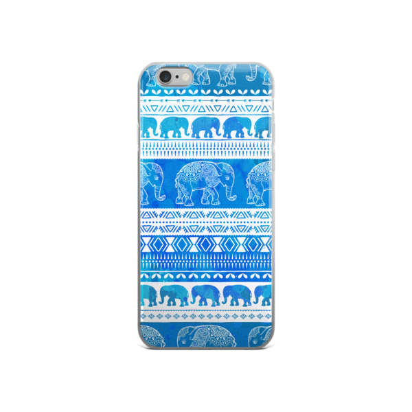 The Blue Elephant Pattern iPhone case - The Gorillas Den