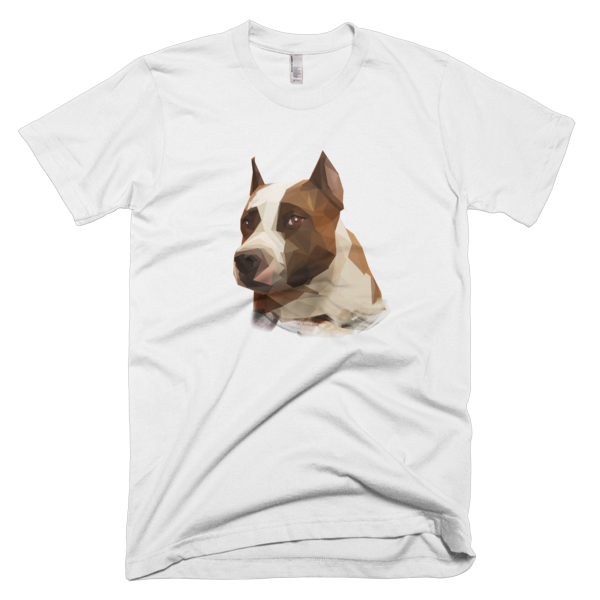 Polygonal Staffy Short sleeve men's t-shirt - The Gorillas Den