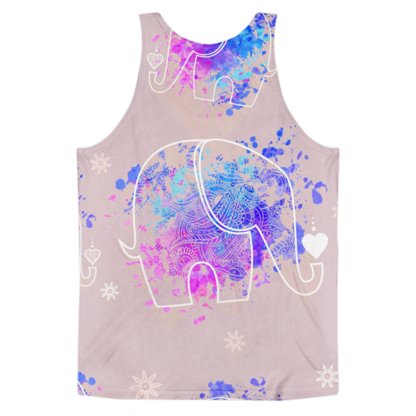 The Pink Elephant Pattern Classic fit tank top (unisex)