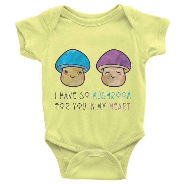 I Have So Mushroom In My Heart Onesie-Infant - The Gorillas Den