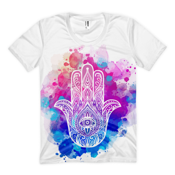 HAMSA The Palm of Destiny Women's sublimation t-shirt - The Gorillas Den