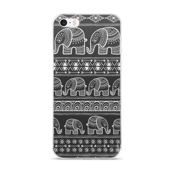 The Black Elephant iPhone case-Pattern Print - The Gorillas Den