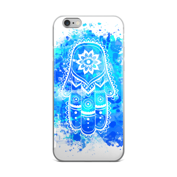 The Blue Hamsa iPhone case-Watercolour - The Gorillas Den