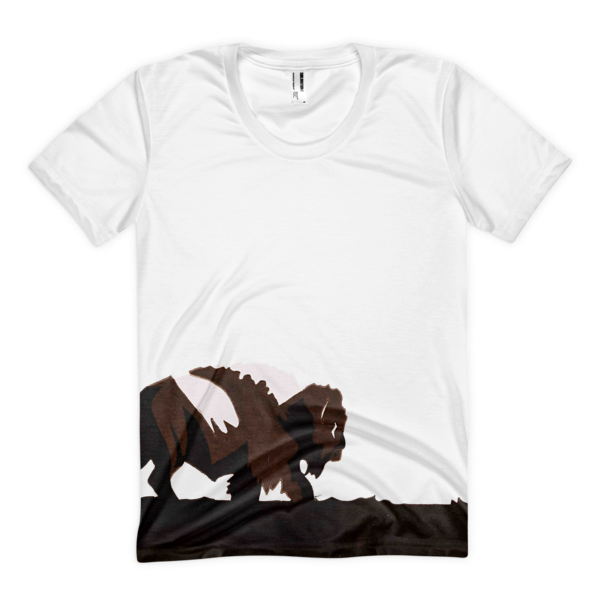 The Lone Buffalo Women's sublimation t-shirt - The Gorillas Den