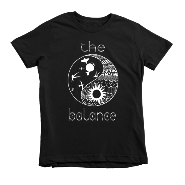 THE BALANCE Short sleeve kids t-shirt - The Gorillas Den