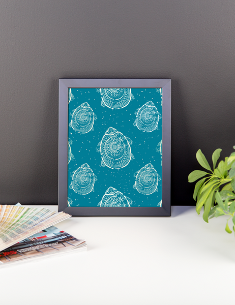 The Race to the Shore Framed Poster-Pattern Print