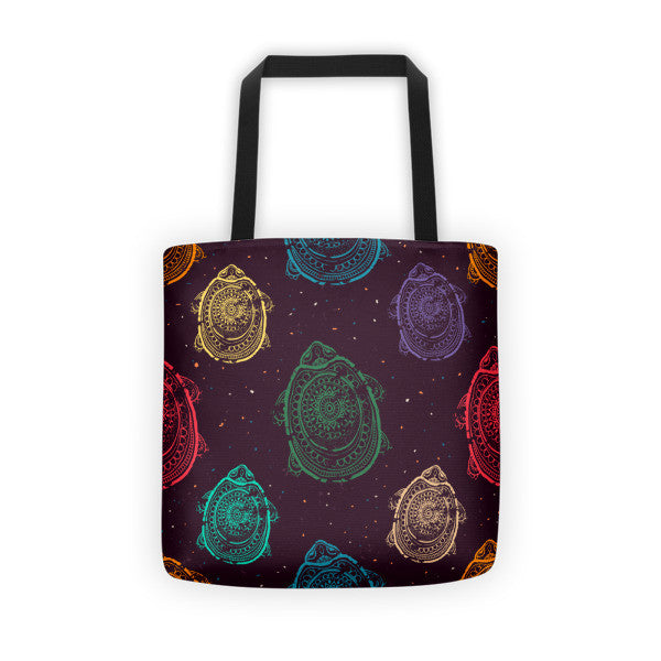 Turtle Power Tote bag-Multi-color Pattern