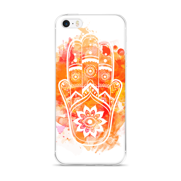 Orange Hamsa iPhone case-Watercolour - The Gorillas Den