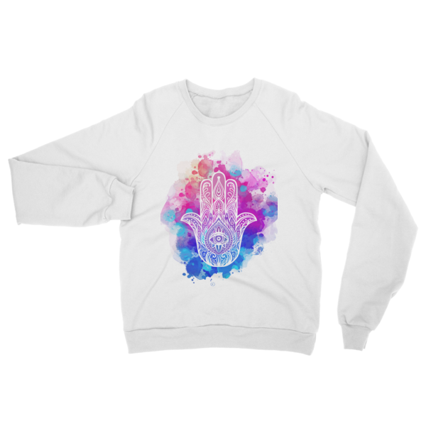 HAMSA The Palm of Destiny Raglan sweater - The Gorillas Den