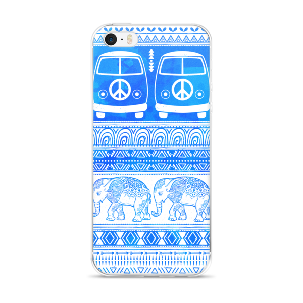 Peace, Love and Elephants iPhone case-Pattern Print - The Gorillas Den