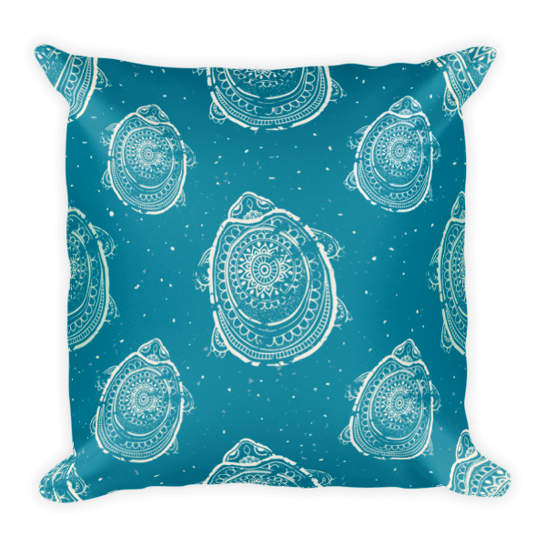 The Race to the Shore Pillow-Pattern Print