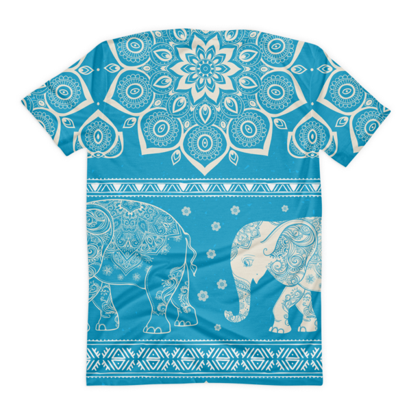 The Elephant Flower Women's Tee-Pattern Print - The Gorillas Den