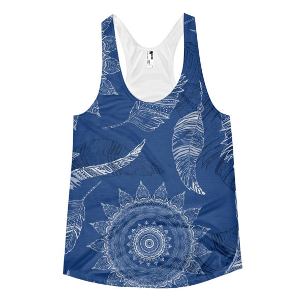 The Blue Leaf Women's racerback tank - The Gorillas Den