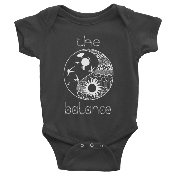 THE BALANCE Infant short sleeve one-piece - The Gorillas Den