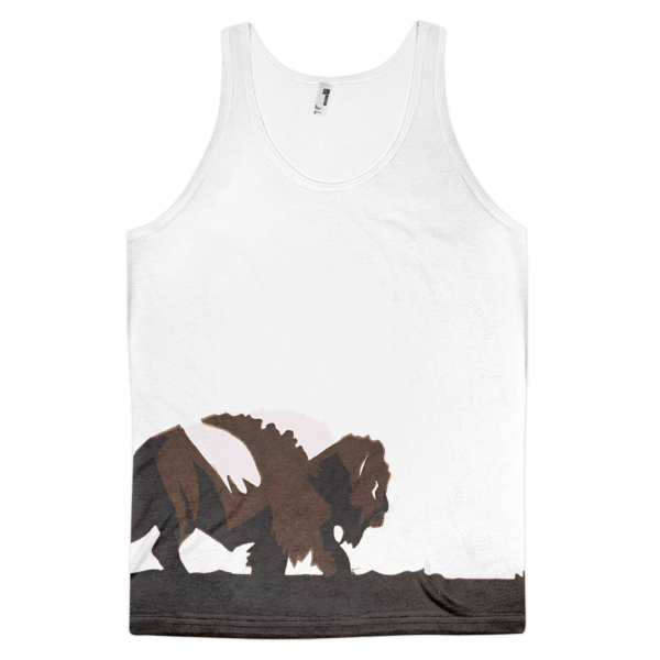The lone buffalo Classic fit tank top (unisex) - The Gorillas Den