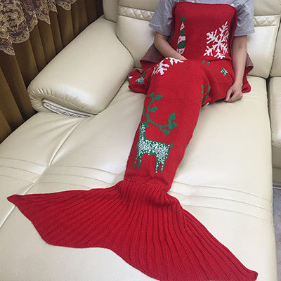 CHRISTMAS MERMAID TAIL SLEEP SACK - HAND BLOOM - The Gorillas Den