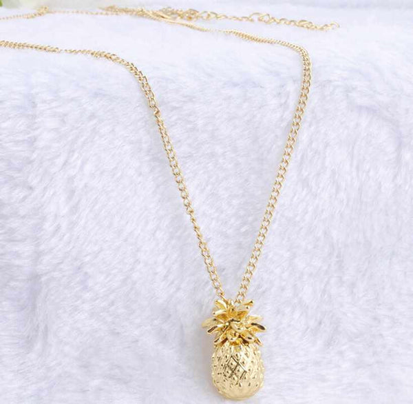 Gold Pineapple Necklace Pendant-Gold Plated - The Gorillas Den