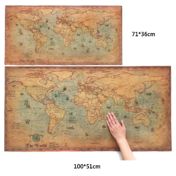 Antique Treasure Map Replica - 2 Sizes - The Gorillas Den