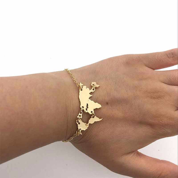 The World Is Yours Dainty Bracelet - Sterling Silver/18k Gold Plated