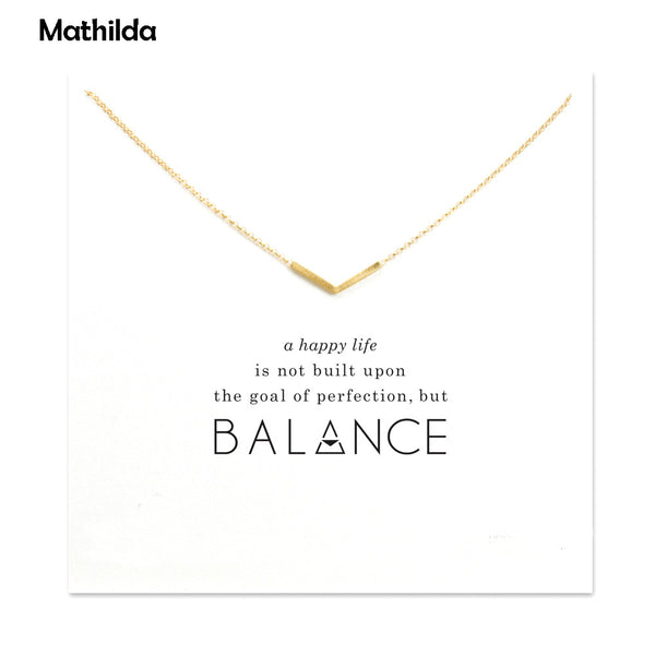 (1 Dollar Clearance Item) Balance - The Key to a Happy Life Necklace - The Gorillas Den
