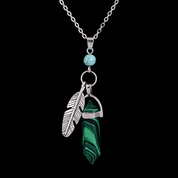 The Feathers of Time Crystal Point Necklace - 7 Colors - The Gorillas Den