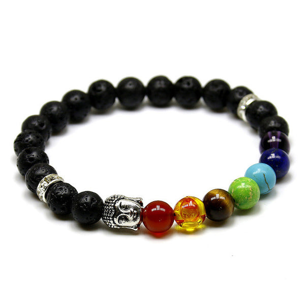 (SPECIAL 1 TIME OFFER!) The 7 Chakra of Buddha Bracelet - 8 Different Options! - The Gorillas Den