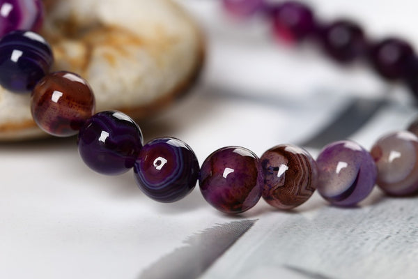 (Extremely Rare) Hand-Made  Purple Onyx Protective Bracelet - The Gorillas Den