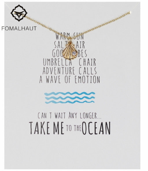 FREE!! Take Me To The OCEAN SEASHELL PENANT - The Gorillas Den