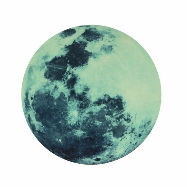 Soothing Ambient Glow in the Dark Moon Wall Decal (5 Colors/3 Sizes) - The Gorillas Den
