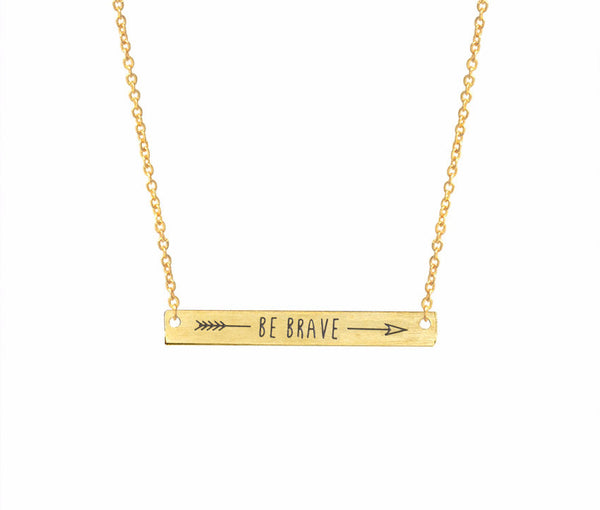 Be Brave Bar - Necklace - The Gorillas Den