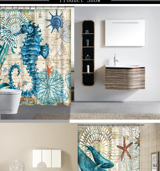Under the Sea Paradise High Quality Shower Curtain - 4 designs