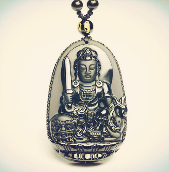 (FREE) Protective Organic Stone Buddha Necklace-Hand Carved - The Gorillas Den