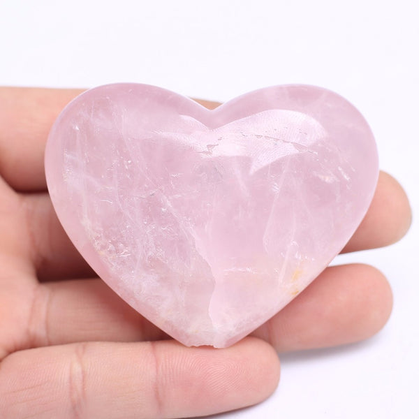 Baby Rose Quartz Heart Pipe (70grams) - The Gorillas Den