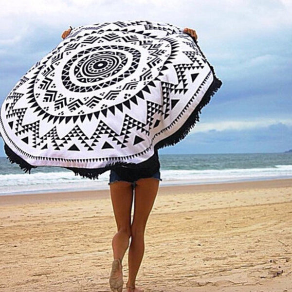 The Major Mandala Inspire Beach Roundie-w/Tassels - The Gorillas Den