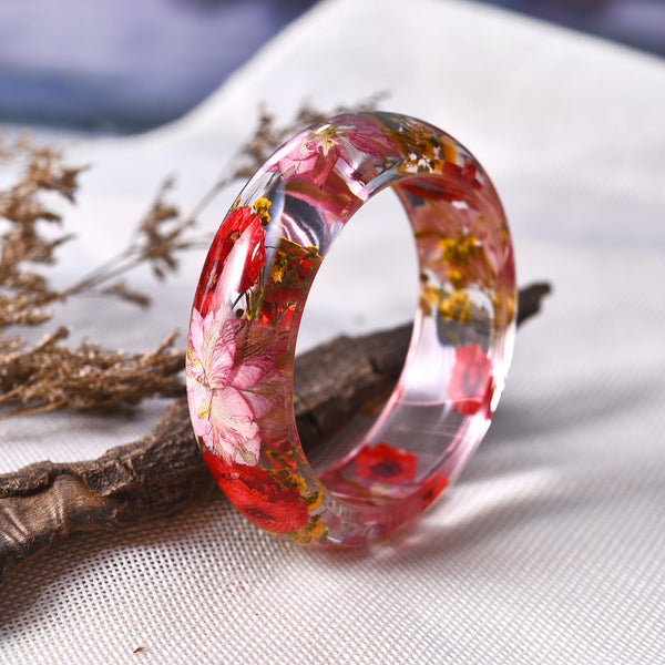 Frozen In Time Real Flower Resin Bracelet - The Gorillas Den