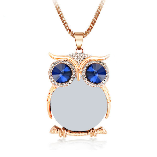 Rhinestone Owl Pendants - The Gorillas Den