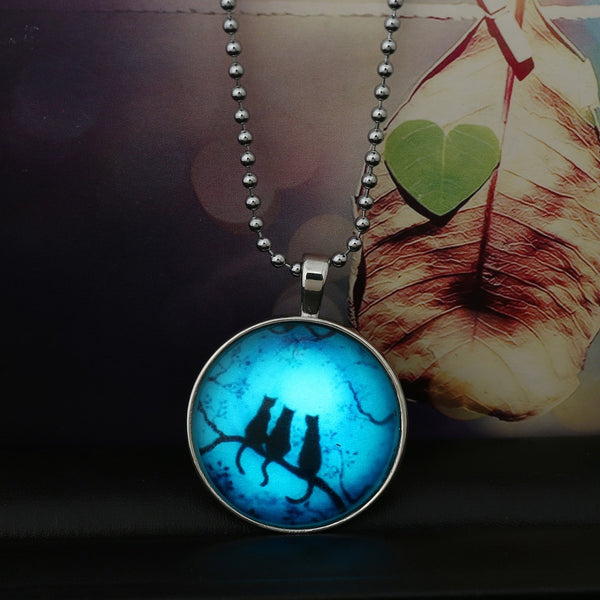 The Meeting of the Cats Glass Pendant - The Gorillas Den