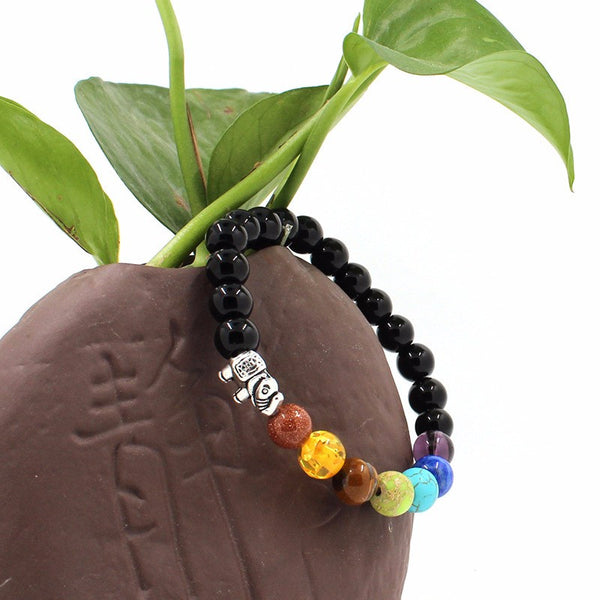 7 Chakras of Life Bracelet - Elephant - The Gorillas Den
