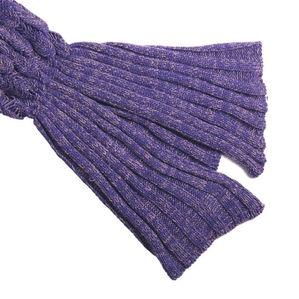 Mermaid Blanket W/ Fish SCALES - Hand Bloom W/ Organic Bamboo Fiber (2 Colors) - The Gorillas Den