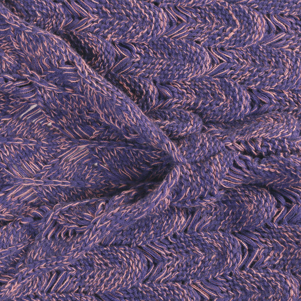 Mermaid Blanket W/ Fish SCALES - Hand Bloom W/ Organic Bamboo Fiber (PURPLE) - The Gorillas Den