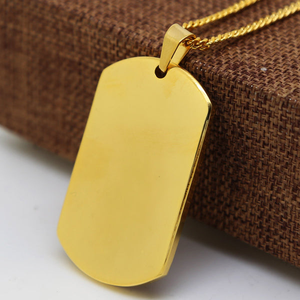 The Clean Slate Dog Tag Necklace-18k Gold Dipped - The Gorillas Den