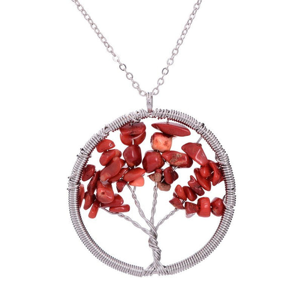 The Tree of Life Natural Precious Stone Necklace - 7 Chakra Heart (5 Styles)