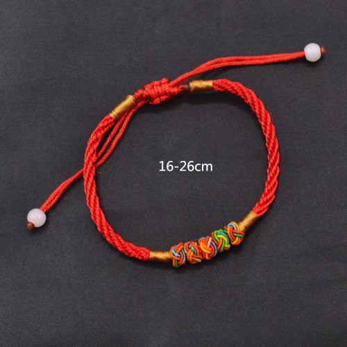 Feng Shui Chinese Oriental LUCKY Red String Thread Adjustable Bracelet Good Luck - The Gorillas Den