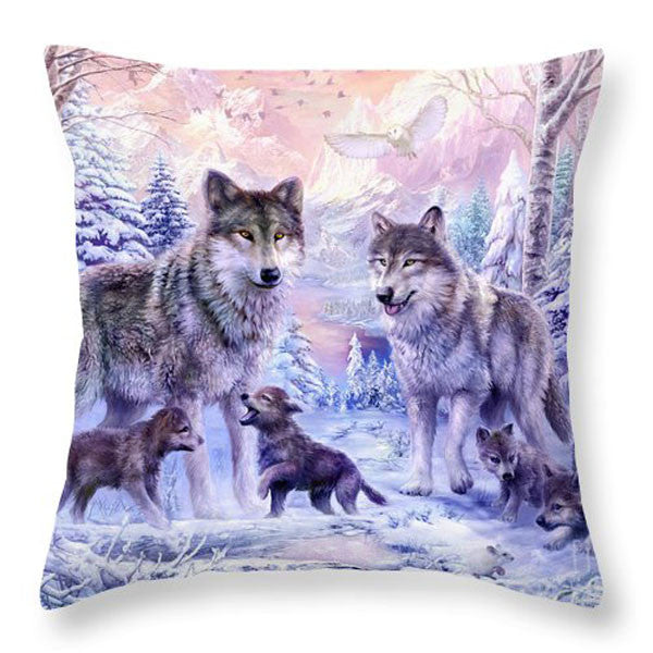 Family Affection Series Cushion Polyester Throw Pillow Animal Elephant Fox Family Love Mother and Son Decorative Pillows HH021 - The Gorillas Den